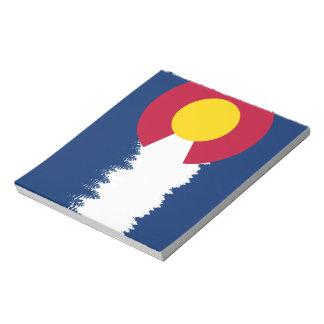 Silueta de Treeline de la bandera de Colorado Blocs De Notas