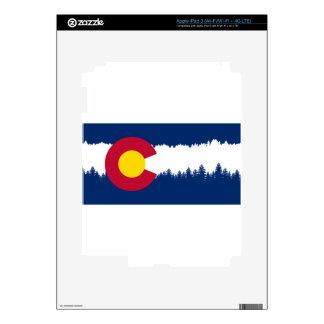 Silueta de Treeline de la bandera de Colorado Pegatina Skin Para iPad 3