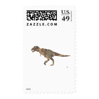 Silueta de Tyranosaurus Rex del camuflaje Sello
