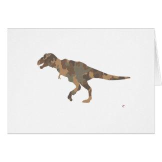 Silueta de Tyranosaurus Rex del camuflaje Felicitaciones