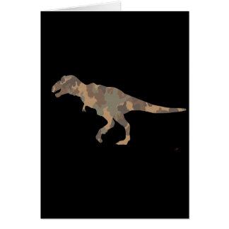 Silueta de Tyranosaurus Rex del camuflaje Felicitacion