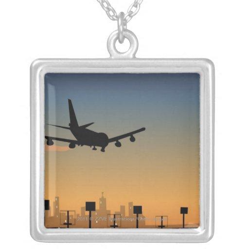 Silueta de un aeroplano en vuelo joyerias personalizadas