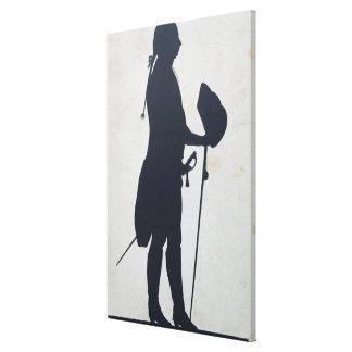 Silueta de un hombre impresión en lienzo estirada