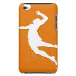 Silueta de un hombre que juega a voleibol iPod touch carcasa