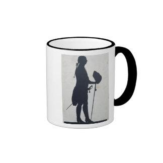 Silueta de un hombre taza