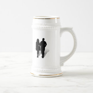 Silueta de un par taza de café