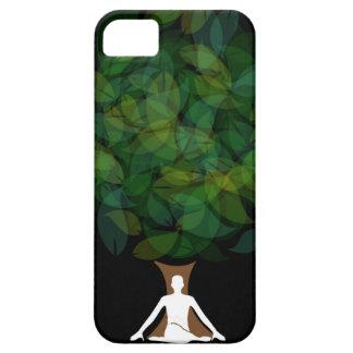 Silueta de una persona meditating o de una persona funda para iPhone SE/5/5s