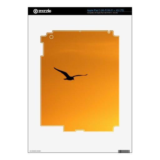 Silueta de una piel del iPad 3 del pájaro iPad 3 Pegatinas Skins