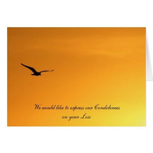 Silueta de una tarjeta de la condolencia del pájar