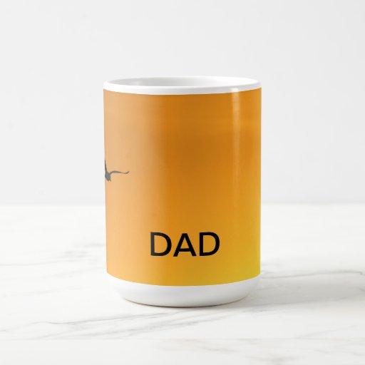 Silueta de una taza del papá del pájaro