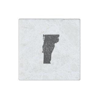 Silueta de Vermont Imán De Piedra