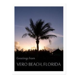 Silueta de Vero Beach Tarjeta Postal