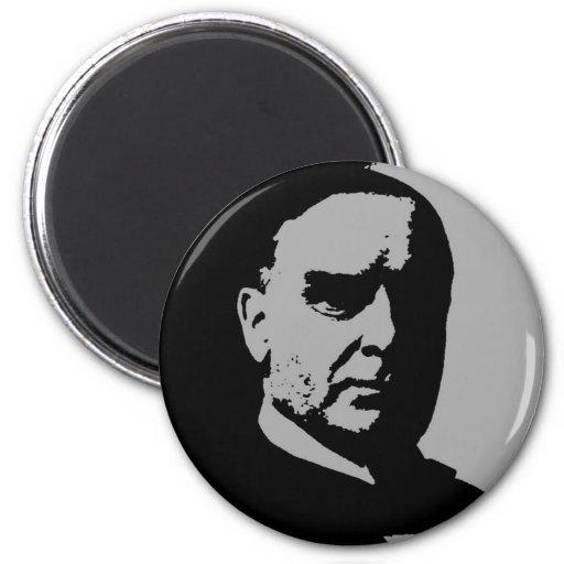 Silueta de William McKinley Imán Redondo 5 Cm
