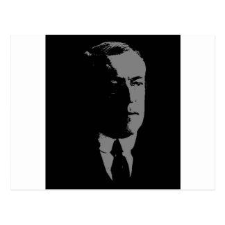 Silueta de Woodrow Wilson Postales