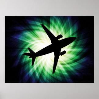 Silueta del aeroplano; Fresco Impresiones