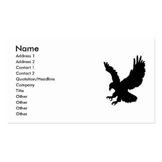silueta del águila, tarjeta de visita
