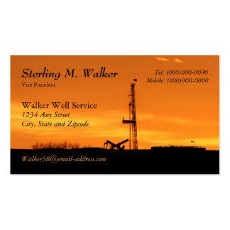 Silueta del aparejo del servicio de la paliza del plantilla de tarjeta de negocio