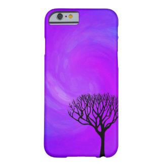 Silueta del árbol (aurora boreal) funda para iPhone 6 barely there