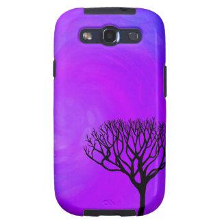 Silueta del árbol aurora boreal galaxy SIII coberturas