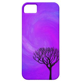 Silueta del árbol (aurora boreal) iPhone 5 Case-Mate cobertura