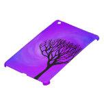 Silueta del árbol (aurora boreal) iPad mini carcasa