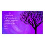 Silueta del árbol (aurora boreal) plantillas de tarjetas personales