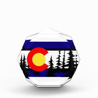 Silueta del árbol de la bandera de Colorado