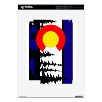 Silueta del árbol de la bandera de Colorado Calcomanías Para El iPad 2