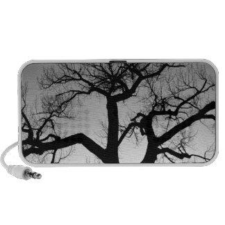 Silueta del árbol del invierno iPod altavoz