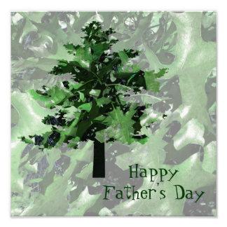 Silueta del árbol del verde del día de padre cojinete