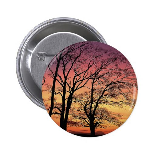 Silueta del árbol pin redondo 5 cm
