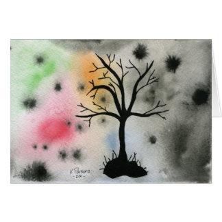 Silueta del árbol felicitación