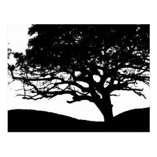 Silueta del árbol postal