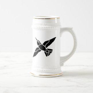 Silueta del arte del pájaro jarra de cerveza