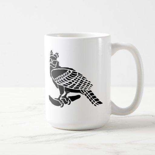 Silueta del arte del pájaro taza