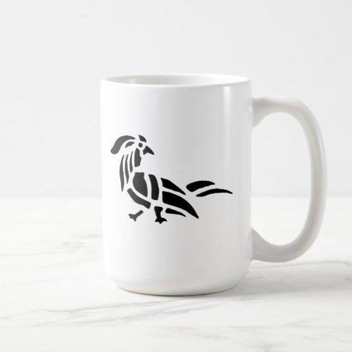 Silueta del arte del pájaro taza de café