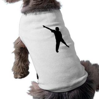 Silueta del baile camisa de perro