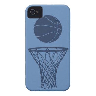 silueta del baloncesto del iPhone 4 azul marino en Case-Mate iPhone 4 Coberturas