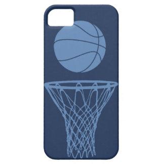 silueta del baloncesto del iPhone 5 azul clara en iPhone 5 Case-Mate Funda
