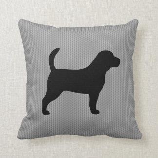 Silueta del beagle almohada