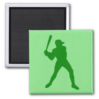silueta del béisbol imán de nevera