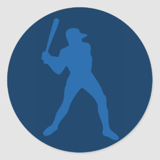 silueta del béisbol pegatina redonda