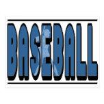 Silueta del béisbol postales