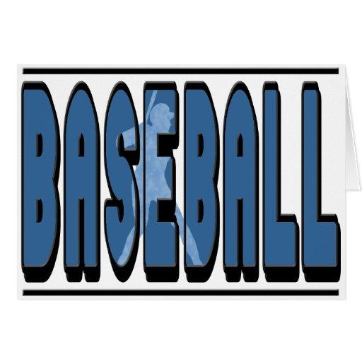 Silueta del béisbol tarjetas