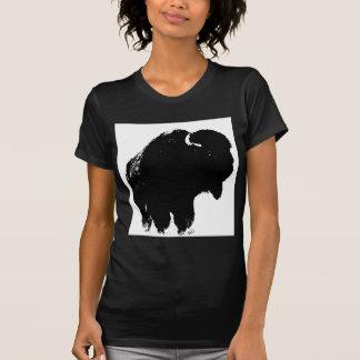Silueta del bisonte del búfalo del arte pop tshirts