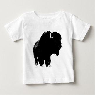 Silueta del bisonte del búfalo del arte pop tshirt