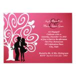 Silueta del boda del compromiso invitación personalizada
