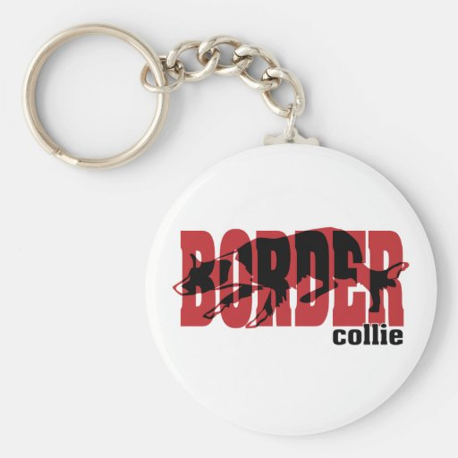 Silueta del border collie llaveros personalizados