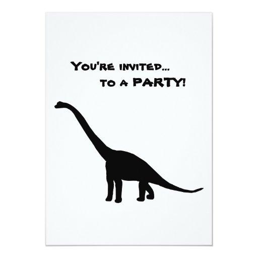 """Silueta del Brontosaurus del dinosaurio Invitación 5"""" X 7"""""""