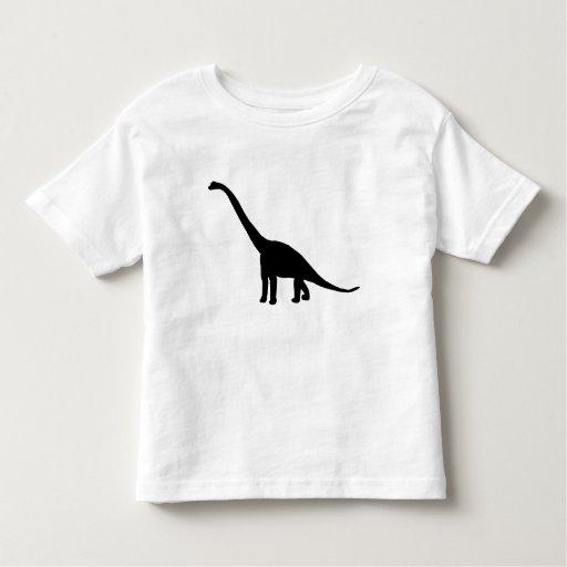 Silueta del Brontosaurus del dinosaurio Tshirt